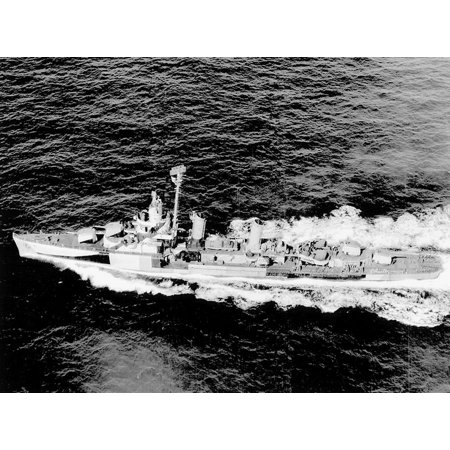 LAMINATED POSTER The U.S. Navy destroyer USS Mervine (DD-489) underway in the Atlantic on 9 May 1945. Two weeks later Poster Print 24 x (Plan B Side Effects 2 Weeks Later)