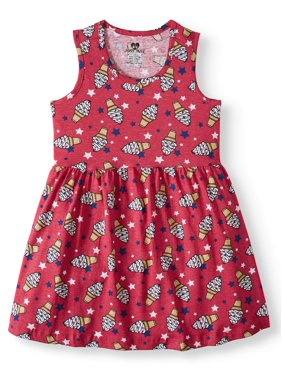 7d23ec672f560 Product Image Americana Jersey Fit and Flare Dress (Little Girls & Big Girls )