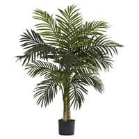 Nearly Natural 4ft. Golden Cane Palm Artificial Tree, Green