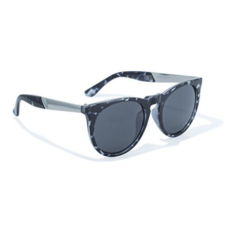 2-Tone Frame with Black and White Demi and Solid Construction Sunglasses by (Construction Sunglasses)