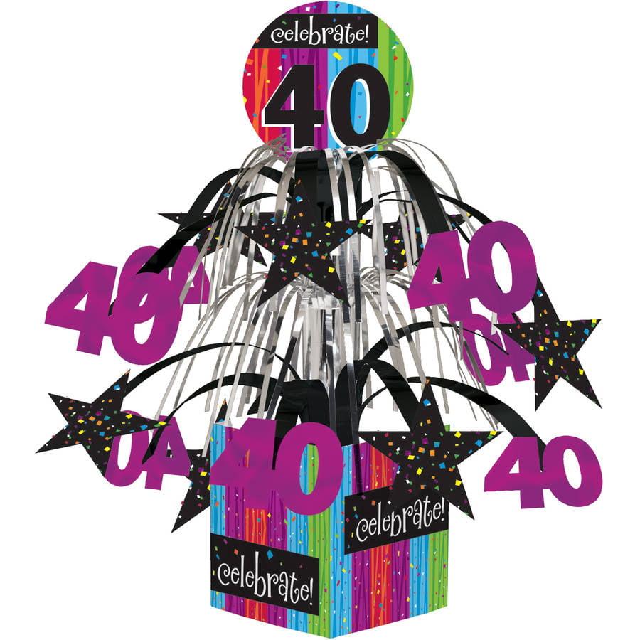 Milestone Celebrations 40th Birthday Centerpiece, 1pk