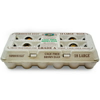 Farmhouse Cage Free Large Brown Grade A Eggs, 18 Count