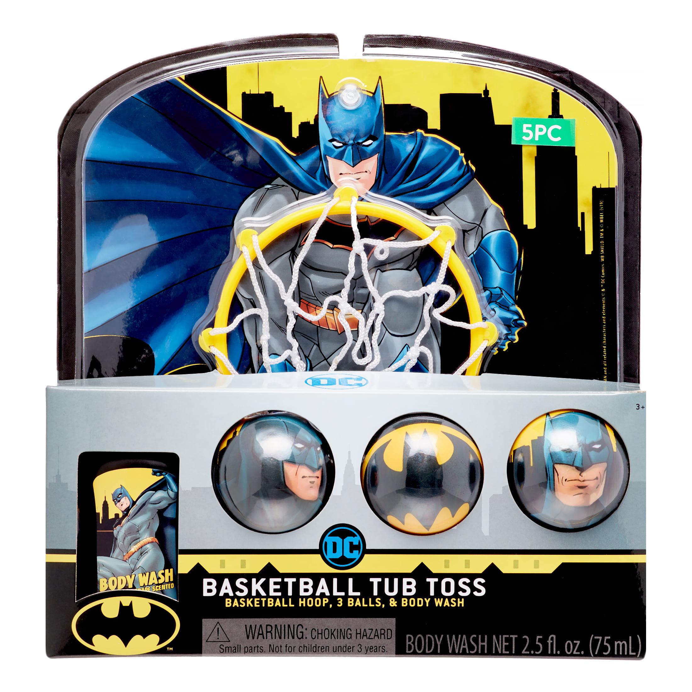 Batman 5 Piece Basketball Tub Toss Bath Game And Body Wash