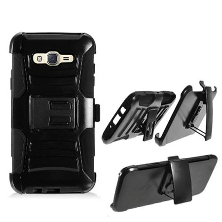 purchase cheap b0e9b 62086 Phone Case for T-Mobile Mobile Samsung Galaxy J7 J700T / J7 (Boost Mobile  J700AVB ) (Virgin Mobile J700 ) Combo Holster with Cover Stand ( Hoslster  ...