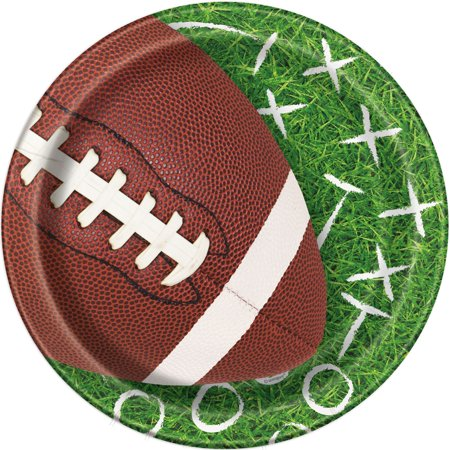 Game Day Football Paper Plates, 9 in, - Football Plates