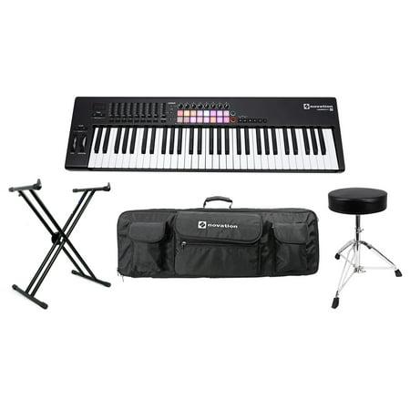 novation launchkey 61 key mk2 usb midi controller keyboard stand case throne. Black Bedroom Furniture Sets. Home Design Ideas