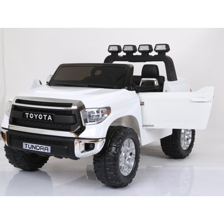 Limited Official 2 Seats Toyota Tundra 2X12v Ride on Truck, Car, Toy for Kids with Remote Control, Music, Lights, Leather Seat, Rubber Wheels
