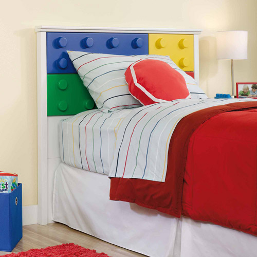 Sauder Primary Street Block Twin Headboard, Soft White