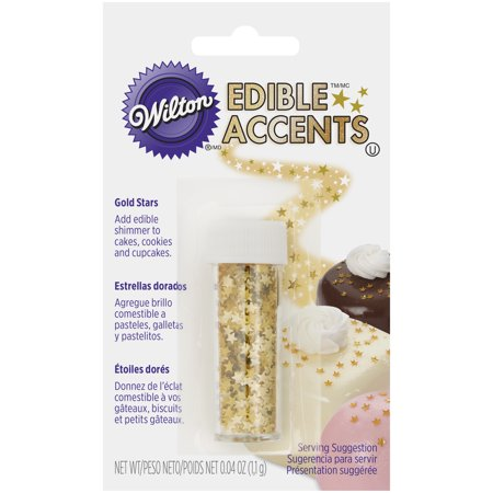 Wilton Gold Stars Edible Accents (Gold Sprinkles)