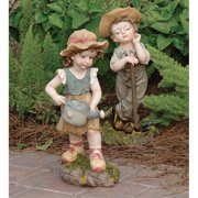 Design Toscano Fanny & Frank Farmer Garden Statue