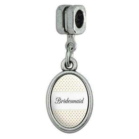 Bridesmaid Wedding Elegant Polka Dots Italian European Style Bracelet Oval Charm Bead 3 Polka Dot Bracelets