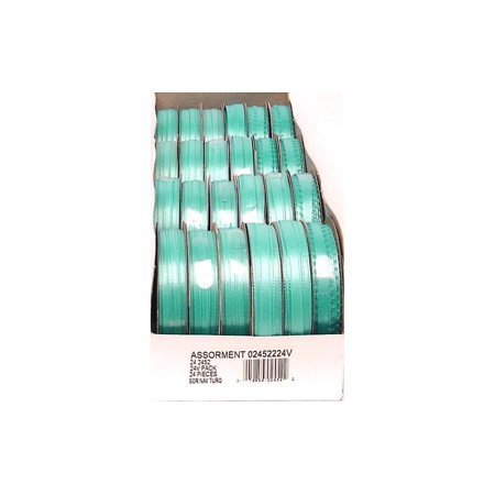 Offray Double Face Satin Turquoise Spool-O-Ribbon, 1 Each