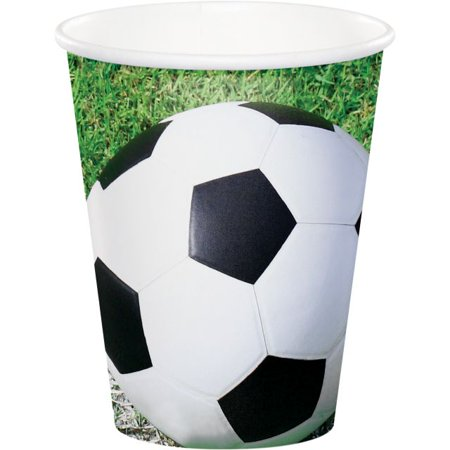 Party Creations Sports Fanatic Soccer, Hot/Cold Cups, 9 Oz, 8 Ct (Soccer Party Decor)