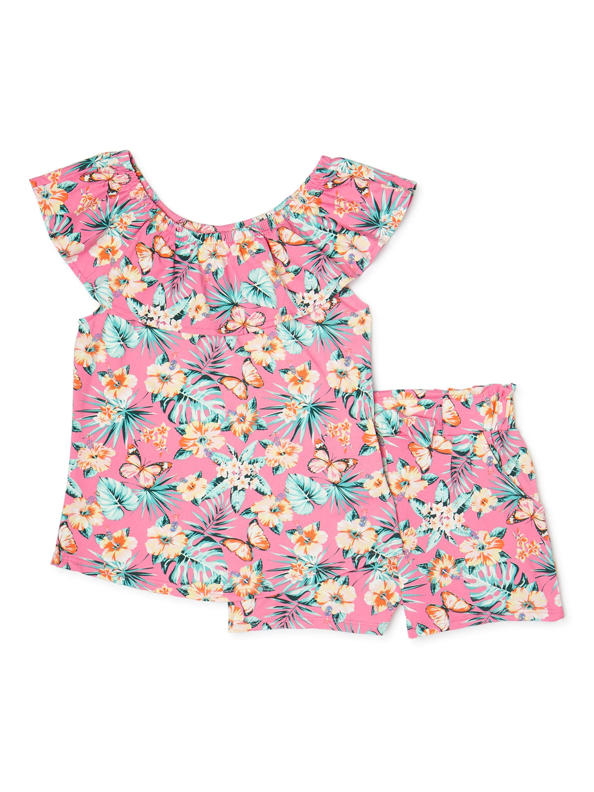 1 3 4 New Absolutely Stunning Toddler//Girls 2 Piece Summer Set Size
