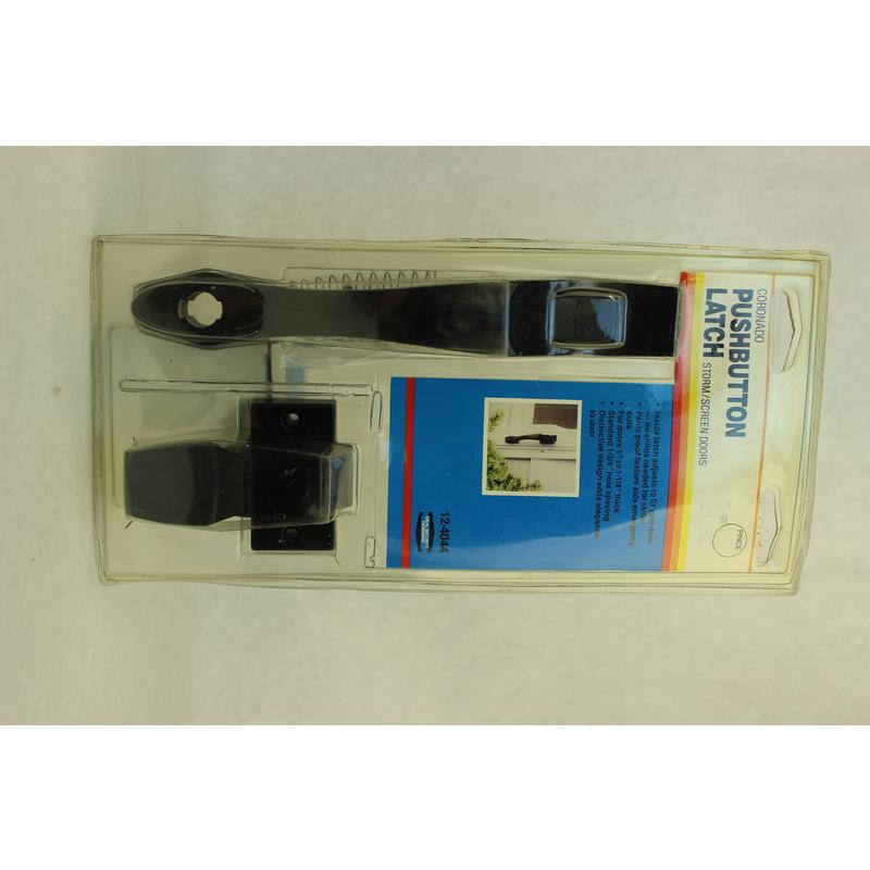 Push-Button Screen Door Handle Ideal Security 783417 Black 032206124044
