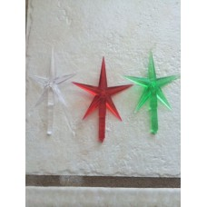 Ceramic Christmas tree star, 3Pkg