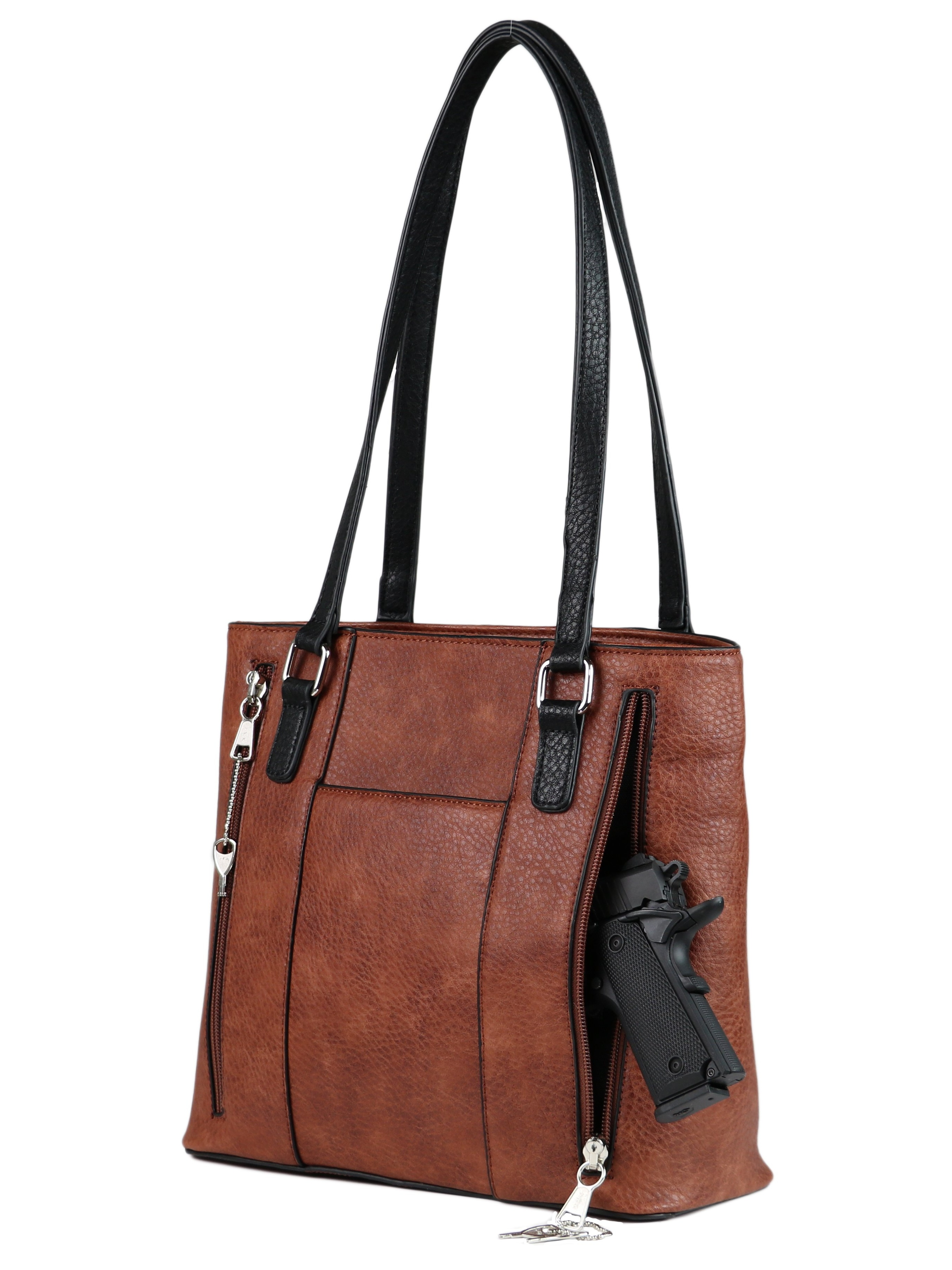 Concealed Carry Jessica Gun Satchel Bag by Lady Conceal,Locking Weapon CCW Purse