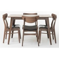 5-Pc Rectangular Dining Set in Dark Brown