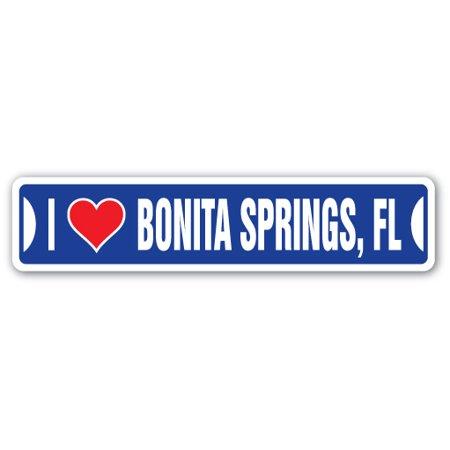 I LOVE BONITA SPRINGS, FLORIDA Street Sign fl city state us wall road décor gift