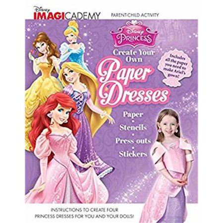 disney imagicademy disney princess create your own paper dresses
