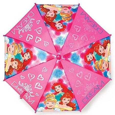 (Disney Princess Girls Umbrella Outdoor Parasol Molded Handle with Carry Bag)