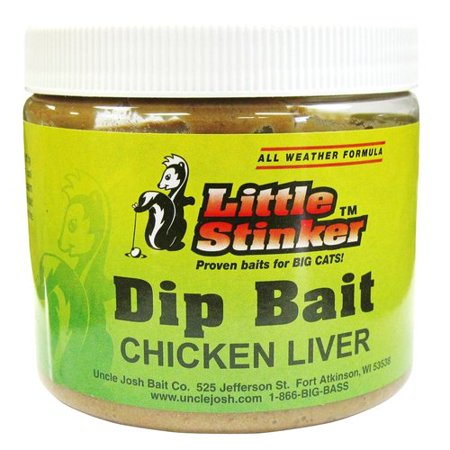 Little stinker chicken liver catfish dip bait for Fishing with chicken liver