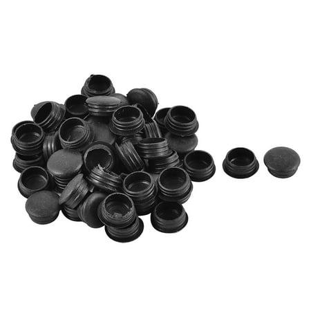 Meubles Type encastré Rond en Plastique Bouchons Trou Noir Insert pour Tube dia 15 mm 50pcs - image 2 de 2