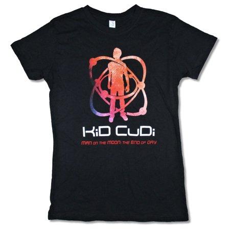 Kid Cudi Man on the Moon Juniors Black T Shirt (Kid Cudi Man On The Moon Iii)