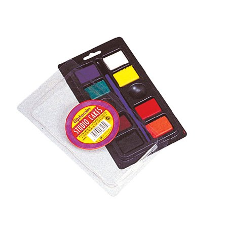 ACCO Alphacolor Brilliants Concentrated Tempera Paint Cake Set, Assorted Colors, Set of 8