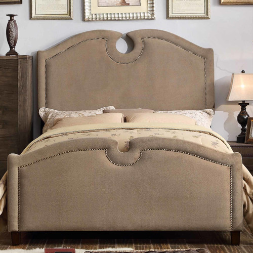 Mulhouse Furniture Elio Queen Upholstered Panel Bed