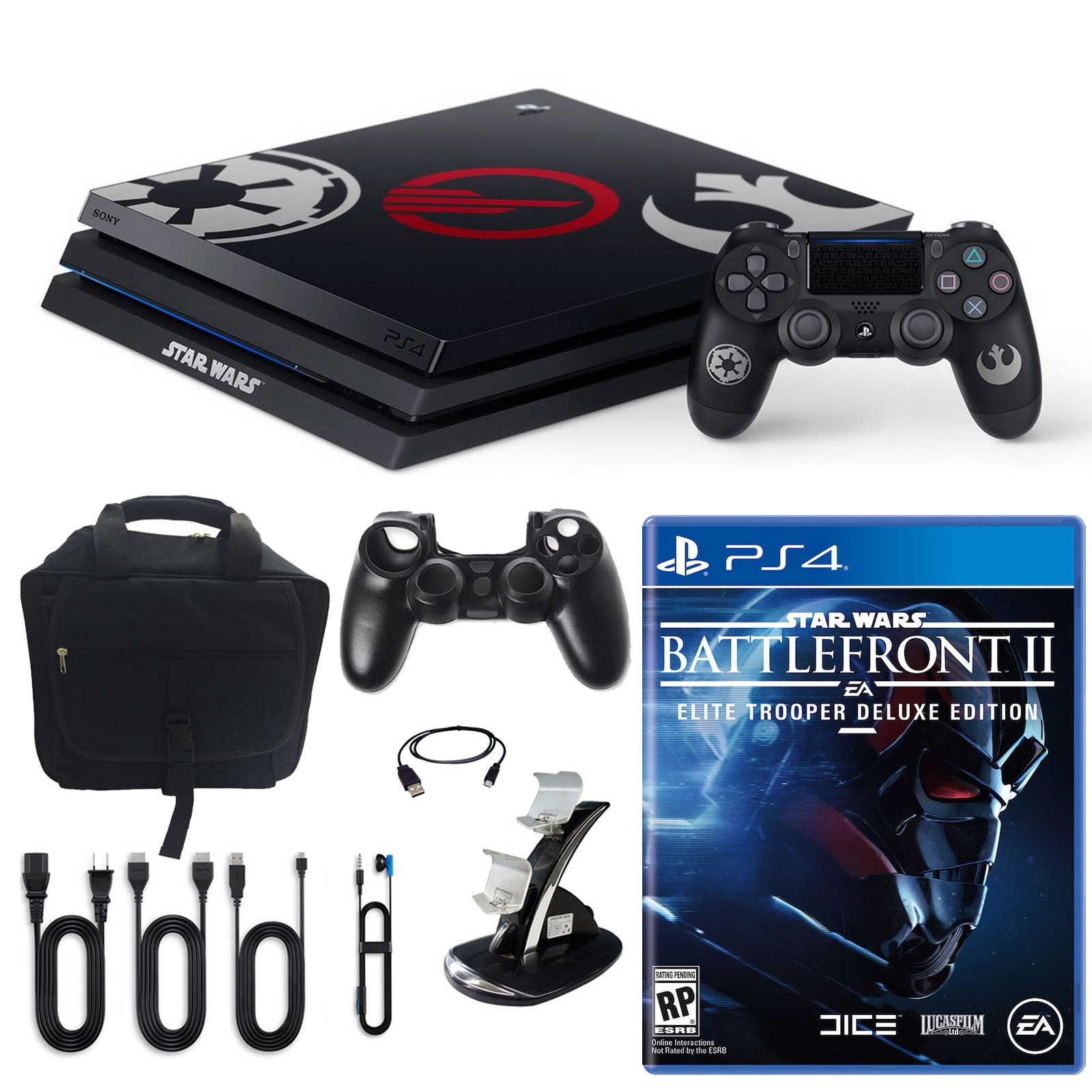 PlayStation 4 Pro Limited Edition Star Wars Battlefront 2 1TB Console and Accessories by PlayStation