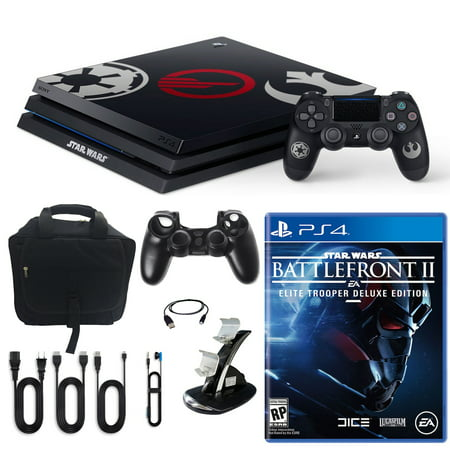 PlayStation 4 Pro Limited Edition Star Wars Battlefront 2 1TB Console and Accessories