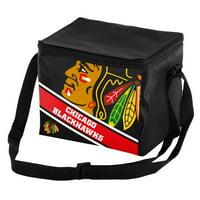 Chicago Blackhawks Big Logo Stripe 6 Pack Cooler - No Size