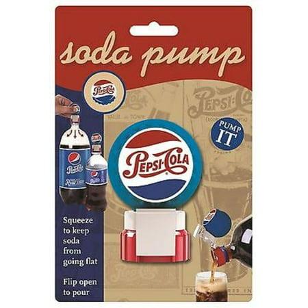 Jokari Pepsi Heritage Bottle Soda Fresh Pump & Pour Fizz Keeper