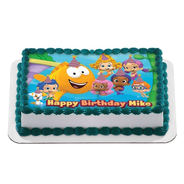 Remarkable Bubble Guppies Quarter Sheet Edible Photo Birthday Cake Topper Birthday Cards Printable Trancafe Filternl