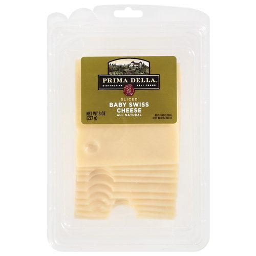 Prima Della Sliced Baby Swiss Cheese, 8 oz