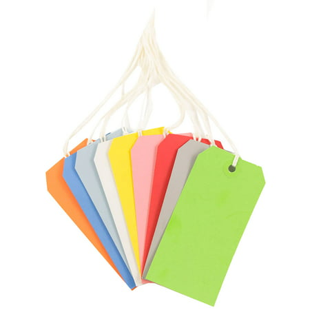 - JAM Paper Gift Tags with String, Medium, 4 3/4 x 2 3/8, Assorted Primary Colors, 60/pack