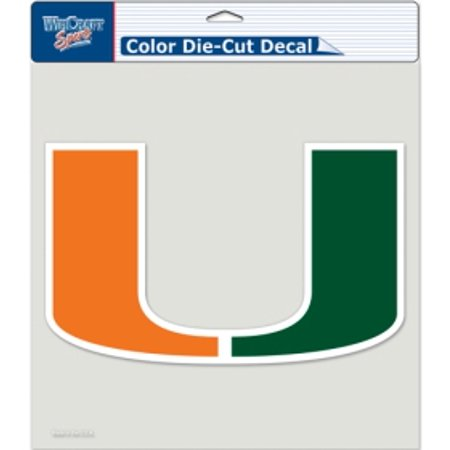 Miami Hurricanes Colors (Miami Hurricanes Die-cut Decal - 8