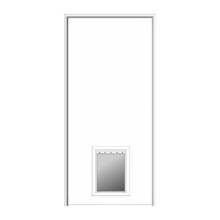 Flush Primed Hardboard 315x8175 Left Hand Interior Door With Pet