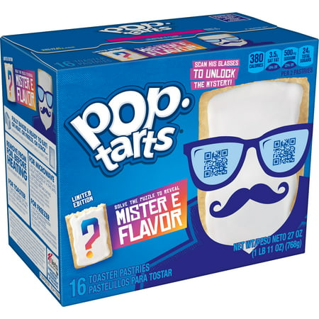Pop-Tarts Mister E Flavor Toaster Pastries, Breakfast Foods, Mystery Flavor, 27oz Box, 8 Ct
