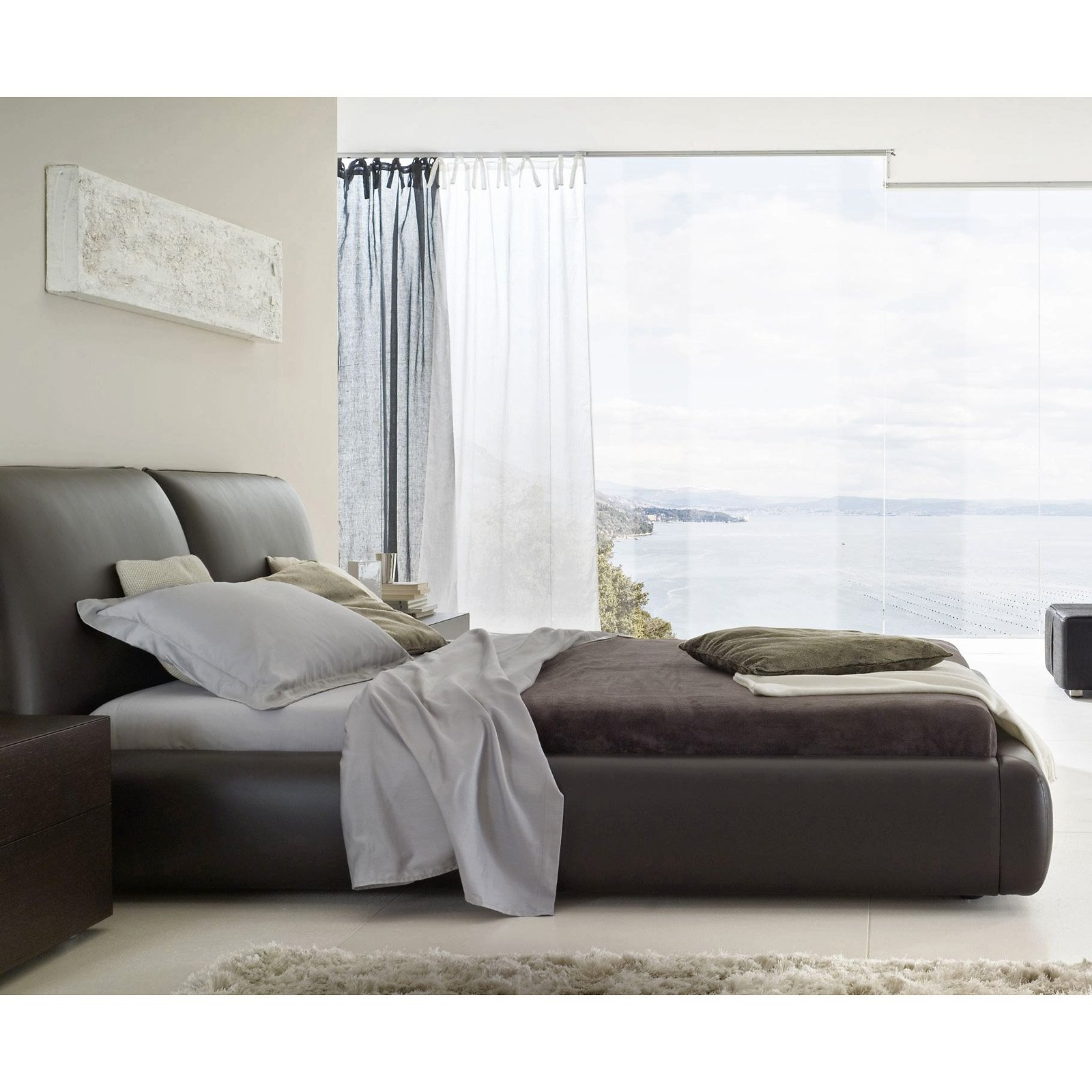 Pavo Platform Bed - Brown - Queen - Walmart.com