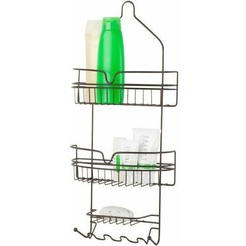 Honey Can Do Shower Caddy with 2 Shelves, Multicolor