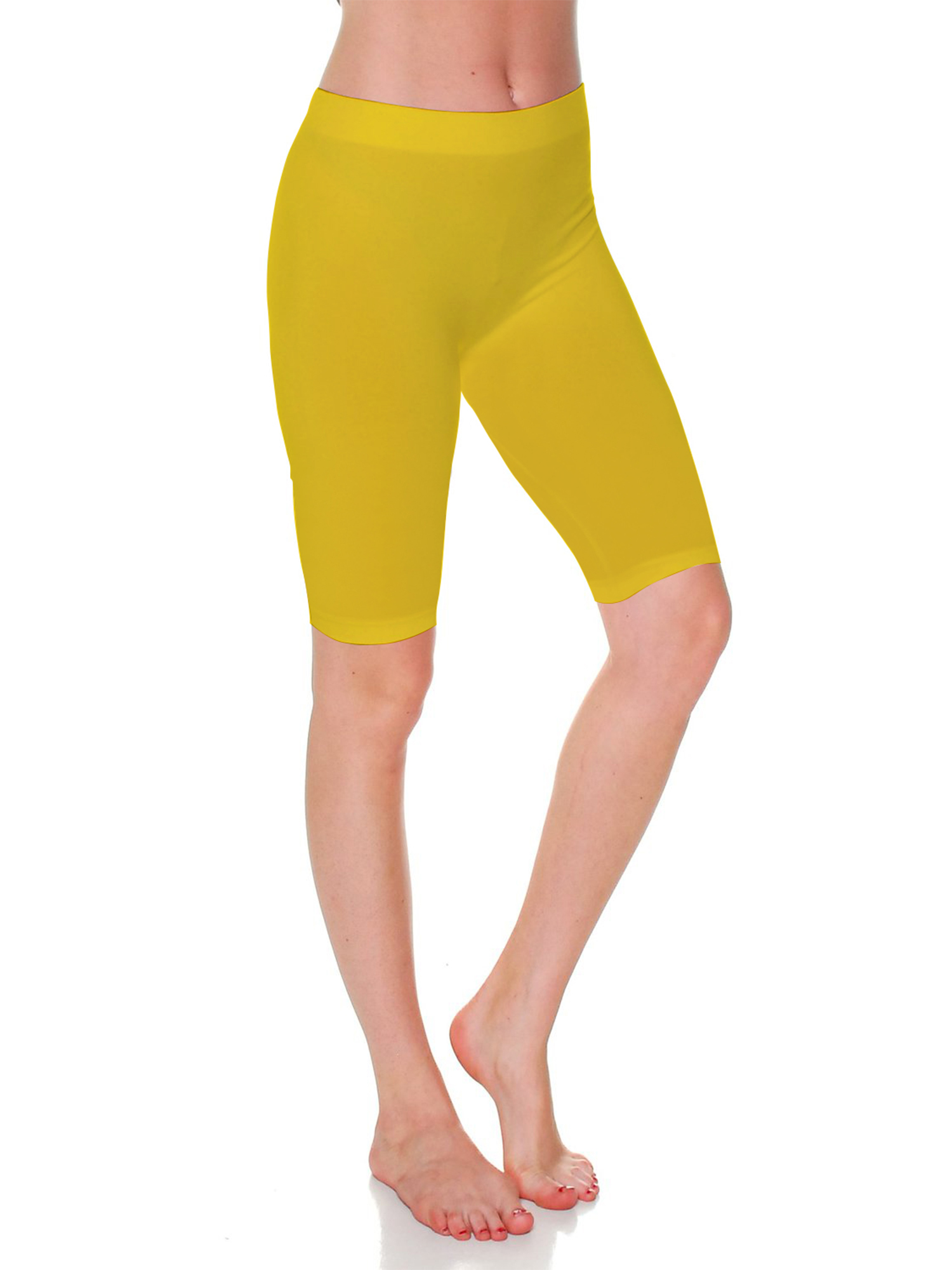 Emmalise Women's Capri 17 in Knee Length Bermuda Seamless Legging - Junior, Plus Size