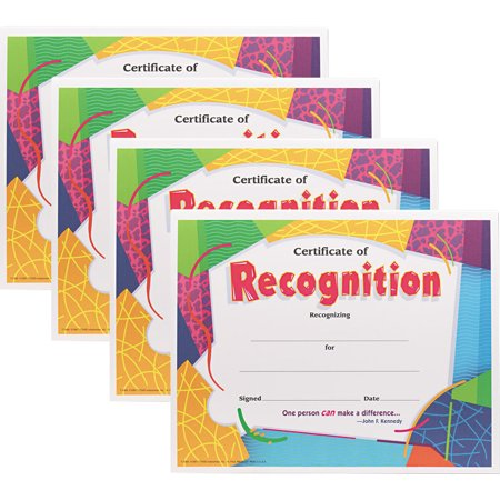 (4 Pack) Trend, TEPT2965, Certificate of Recognition, 30 /