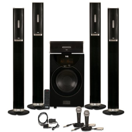 Acoustic Audio AAT2002 Tower 5.1 Home Theater Bluetooth Speaker System with Optical Input
