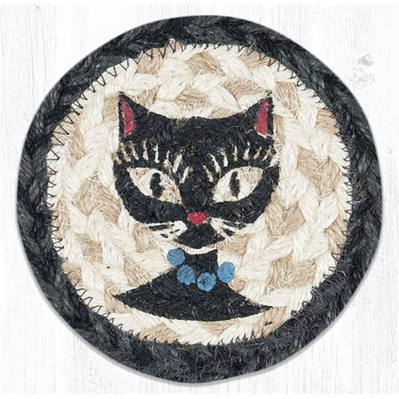 Beaded Coasters (Capitol Importing 31-IC9-238CBB 5 x 5 in. IC-9-238 Crazy Cat Blue Beads Printed Coaster)
