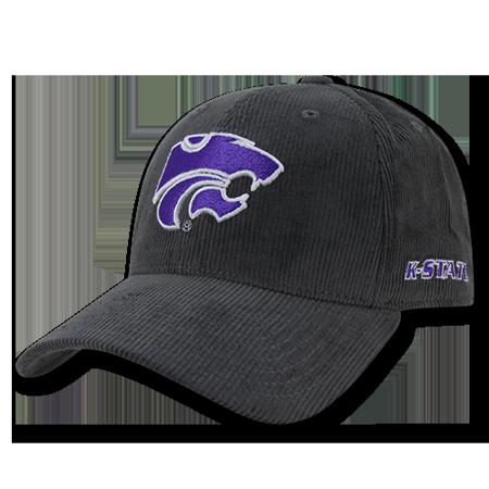 Washed Corduroy Cap (NCAA Kansas State Wildcats University Structured Corduroy Baseball Caps Hats)