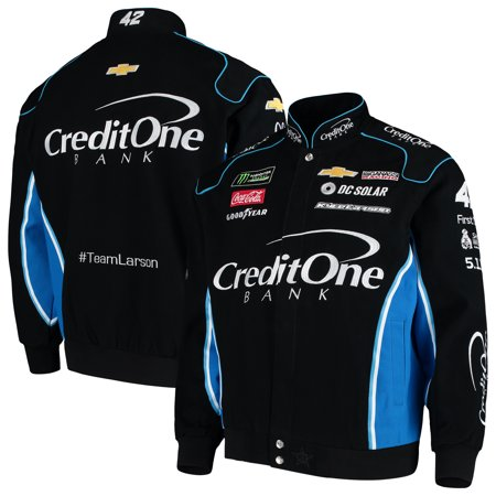 Kyle Larson Credit One Bank Full-Snap Twill Uniform Jacket - (Twill Uniform Jacket)