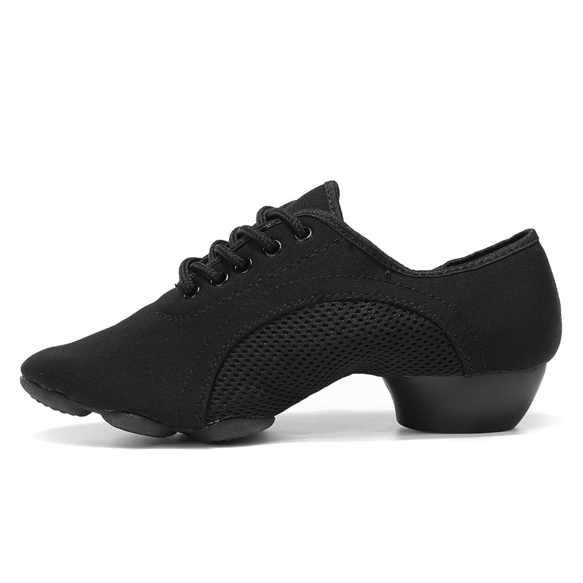 AU Women Two-point Modern Latin Tango Jazz Dance Ballet Soft Sole Shoes Dancing