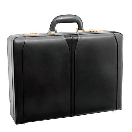 McKlein TURNER, Expandable Attaché Briefcase, Top Grain Cowhide Leather, Black (Tumi Leather Briefcases)